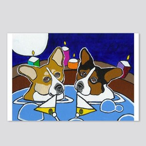 Hot Tub Corgis Postcards (Package of 8)