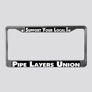 Pipe Layers Union License Plate Frame