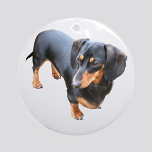 'Lily Dachshund Dog' Ornament (Round)