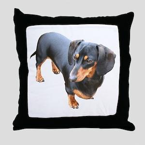 'Lily Dachshund Dog' Throw Pillow