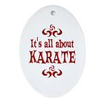 Karate Ornament (Oval)