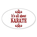 Karate Sticker (Oval 50 pk)