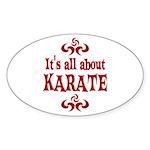 Karate Sticker (Oval)