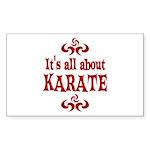 Karate Sticker (Rectangle 10 pk)