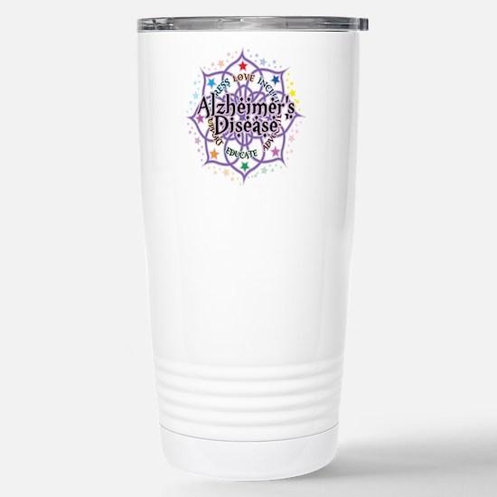 Alzheimers Lotus Stainless Steel Travel Mug
