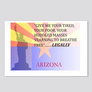 Pro Arizona with Statue Of Li Postcards (Package o