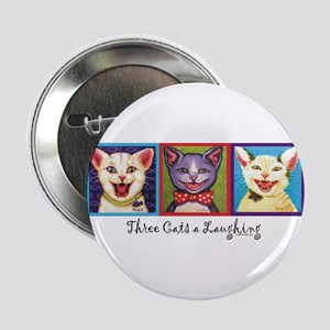 """Three Laughing Cats 2.25"""" Button"""