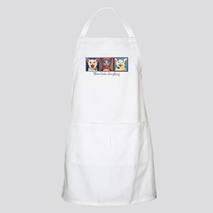 Three Laughing Cats BBQ Apron