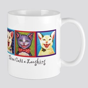 Three Laughing Cats Mug