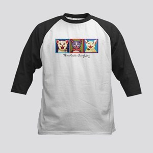 Three Laughing Cats Kids Baseball Jersey