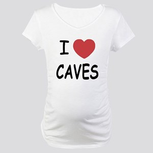 I heart caves Maternity T-Shirt