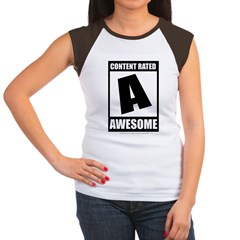 Content Rated Awesome Women's Cap Sleeve T-Shirt