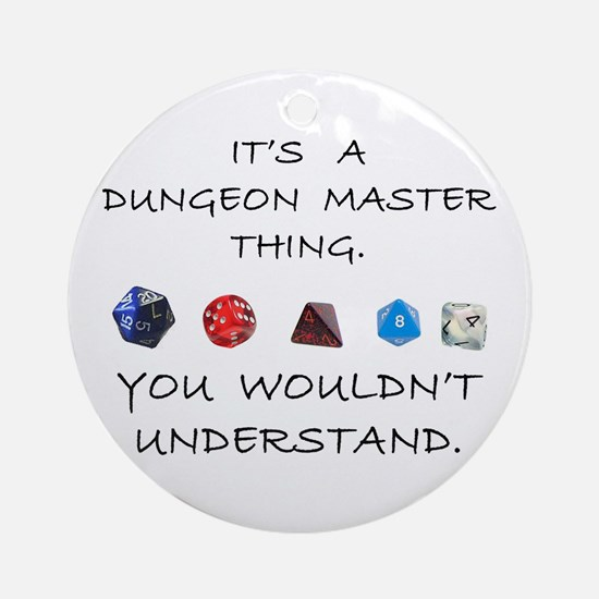Dungeon Master Thing Ornament (Round)