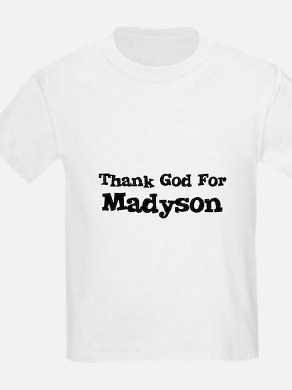 Thank God For Madyson Kids T-Shirt