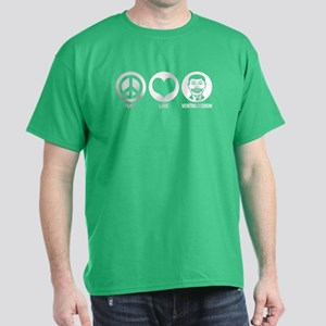 Peace Love Ventriloquism Dark T-Shirt
