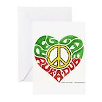 Reggae Rub A Dub Greeting Cards (Pk of 10)