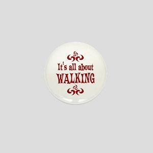 Walking Mini Button
