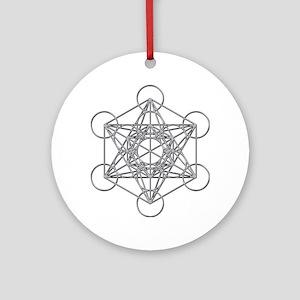 Metatrons Cube Round Ornament