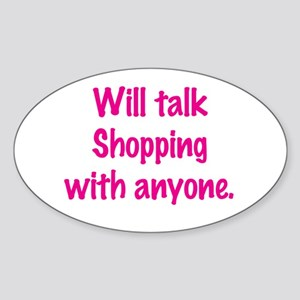 Talk Shopping Sticker (Oval)