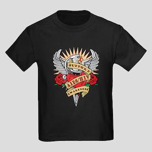 AIDS/HIV Dagger Kids Dark T-Shirt