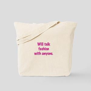 Talk Fashion Tote Bag