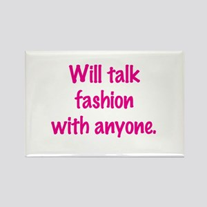 Talk Fashion Rectangle Magnet