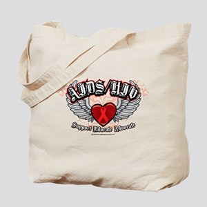 AIDS/HIV Wings Tote Bag