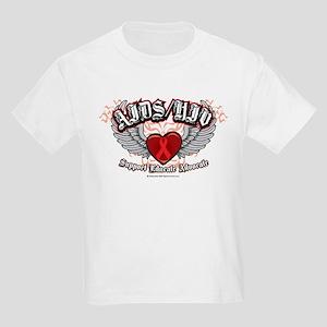 AIDS/HIV Wings Kids Light T-Shirt