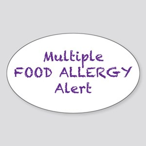 Multiple Food Allergy Alert Sticker (Oval)