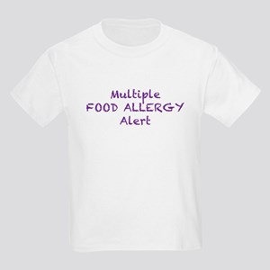 Multiple Food Allergy Alert Kids Light T-Shirt