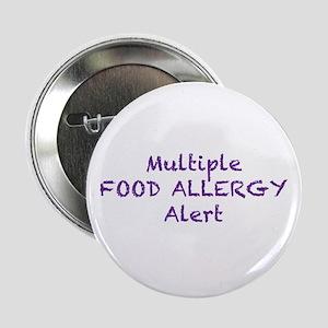 "Multiple Food Allergy Alert 2.25"" Button"