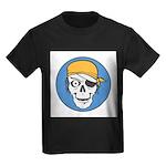 Colored Pirate Skull Kids Dark T-Shirt