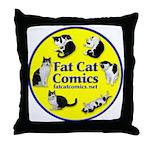 Circle o' Cats Throw Pillow