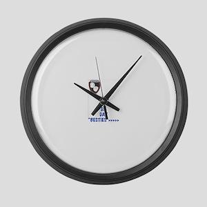 Besties Large Wall Clock