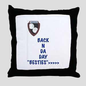 Besties Throw Pillow