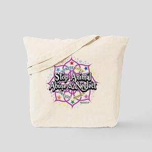 Animal-Rights-Lotus Tote Bag