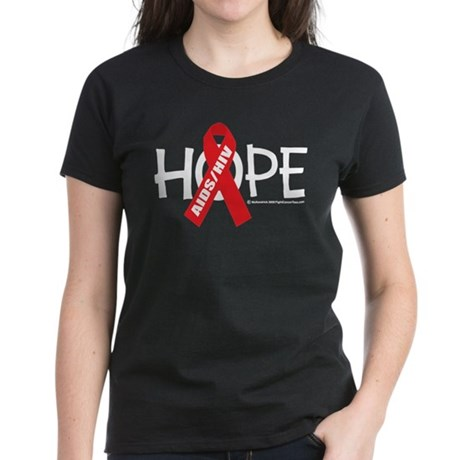 AIDS/HIV Hope Women's Dark T-Shirt
