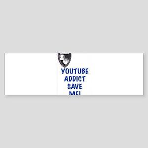 YouTube Addict Bumper Sticker