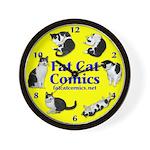 Circle o' Cats Wall Clock