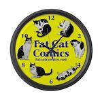 Circle o' Cats Large Wall Clock