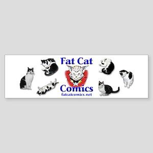 Fat Cat Comics Sticker (Bumper)