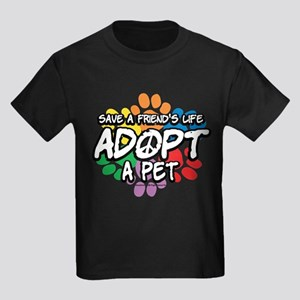 Paws-Adopt-2009 Kids Dark T-Shirt