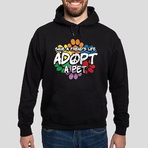Paws-Adopt-2009 Hoodie (dark)