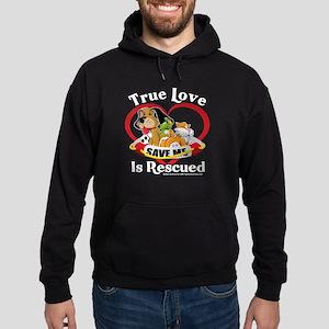 Rescued-Love Hoodie (dark)