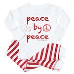 Peace By Peace (red) Pajamas