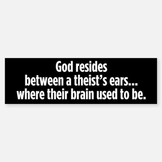 God Resides bumper sticker