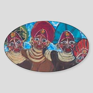 Nubian Sisters Sticker (Oval)