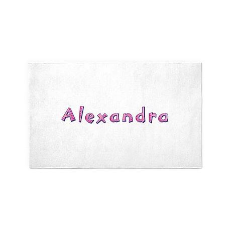 Alexandra Pink Giraffe 3'x 5' Area Rug