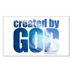 created by God - Sticker (Rectangle 10 pk)