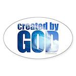 created by God - Sticker (Oval 10 pk)
